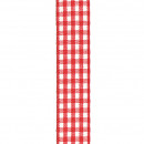 Vichy Karoband, width 25 mm, length 25 m, red-whit